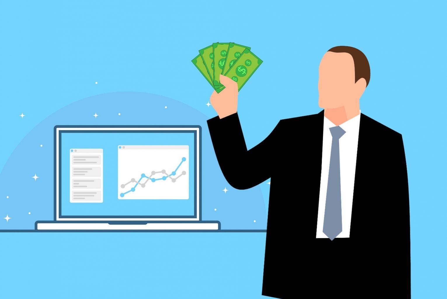 investor holding profit