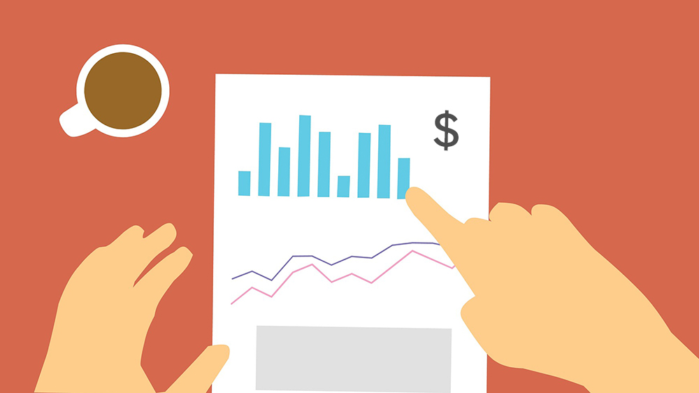 report statistics with dollar sign